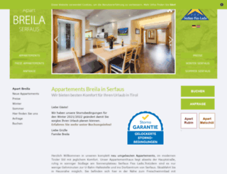 apart-breila.at screenshot