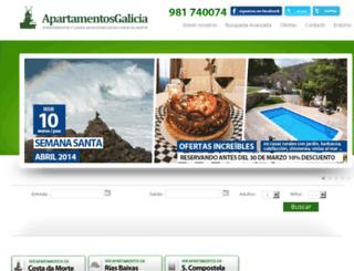 apartamentosgalicia.net screenshot