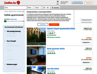 apartmanok-siofok.utazok.hu screenshot