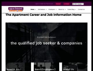apartmentcareers.com screenshot