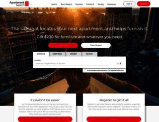 apartmentsearch.com screenshot
