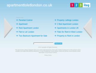 apartmenttoletlondon.co.uk screenshot