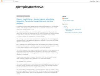 apemploymentnews.blogspot.in screenshot