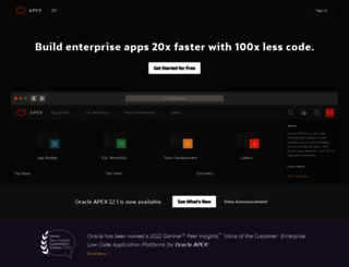 apex.oracle.com screenshot