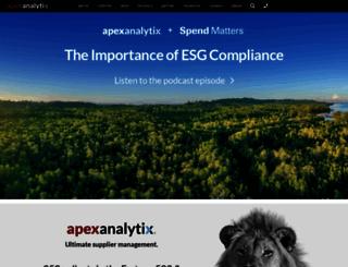 apexanalytix.com screenshot