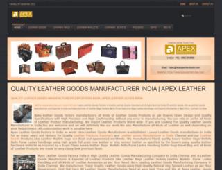 apexleathergoods.com screenshot