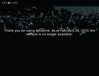 api.artistlink.com screenshot