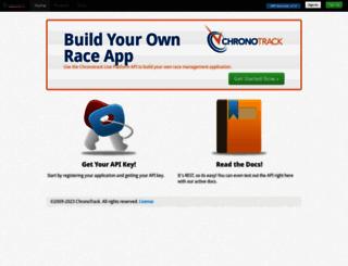 api.chronotrack.com screenshot