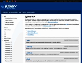 api.jquery.com screenshot