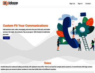 apidaze.io screenshot