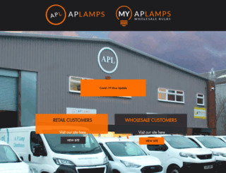 aplamps.co.uk screenshot