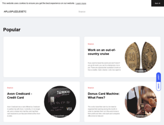 apluspuzzlesetc.com screenshot