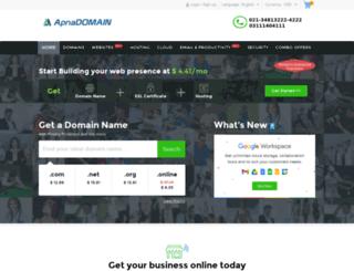 apnadomain.net screenshot