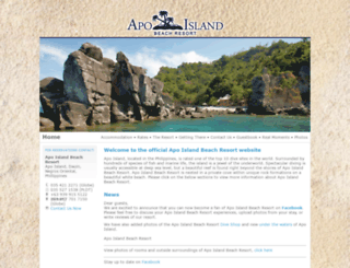 apoislandresort.com screenshot