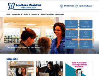 apotheekmaasdonk.nl screenshot