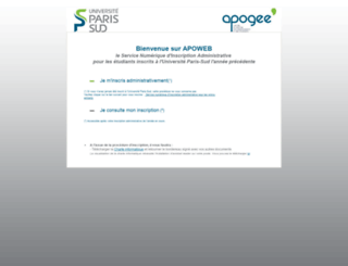 apoweb.u-psud.fr screenshot