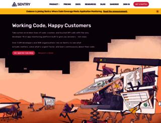 app.getsentry.com screenshot