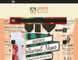appetitetheatre.com screenshot