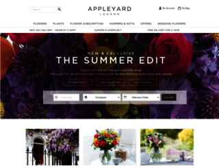 appleyardflowers.com screenshot
