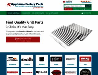 appliancefactoryparts.com screenshot