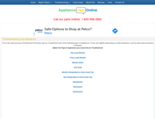 appliancehelponline.com screenshot