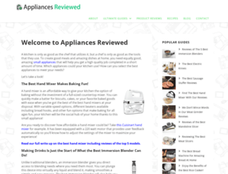 appliancesreviewed.com screenshot