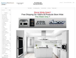 appliancewarehousecenter.com screenshot