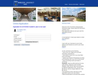 application2.babcock.edu.ng screenshot