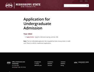 apply.msstate.edu screenshot
