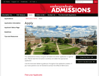 apply.uc.edu screenshot