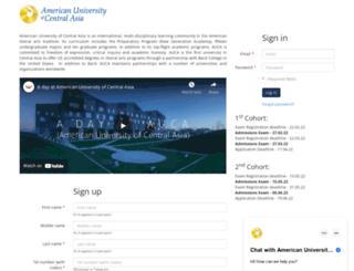 applyonline.auca.kg screenshot