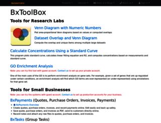 apps.bioinforx.com screenshot