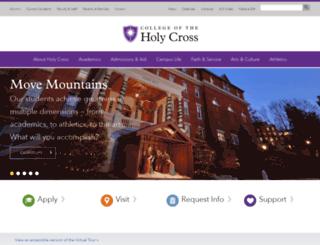 apps.holycross.edu screenshot
