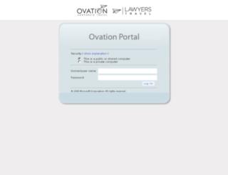 apps.ovationtravel.com screenshot