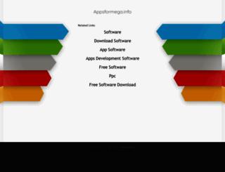 appsformega.info screenshot
