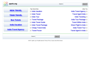 apsrtc.org screenshot
