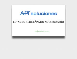 aptsoluciones.com screenshot