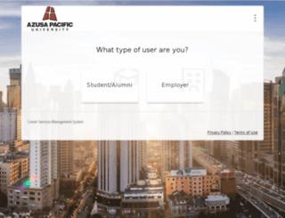apu-csm.symplicity.com screenshot