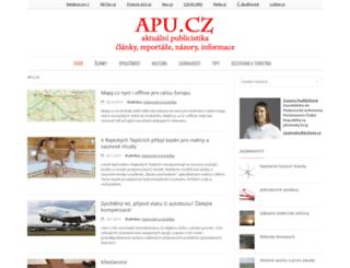 apu.cz screenshot