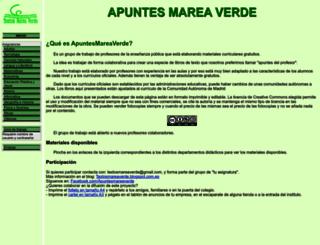 apuntesmareaverde.org.es screenshot