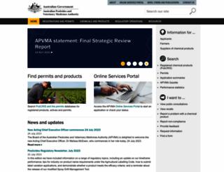 apvma.gov.au screenshot