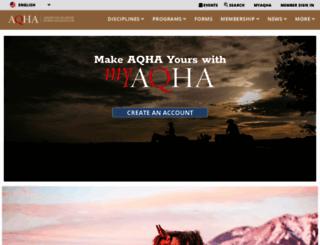 aqha.com screenshot