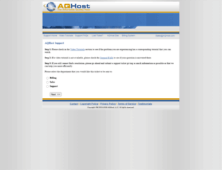 aqhostsupport.com screenshot