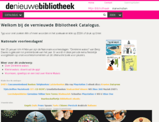 aquabrowser.denieuwebibliotheek.nl screenshot