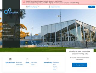 aqualink.com.au screenshot