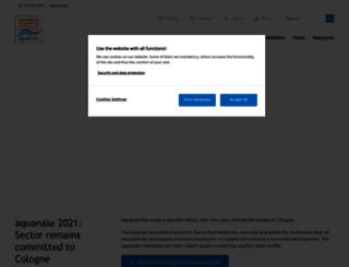 aquanale.com screenshot