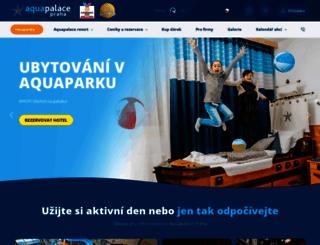 aquapalace.cz screenshot