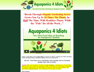 aquaponics4idiots.com screenshot