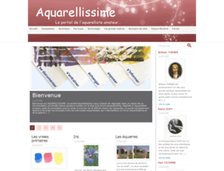 aquarellissime.fr screenshot