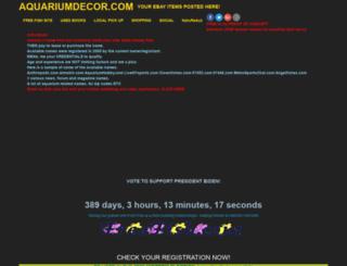 aquariumdecor.com screenshot